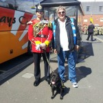 carl & staffordshire regiment mascot