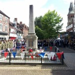 rugeley war memorial with cadets