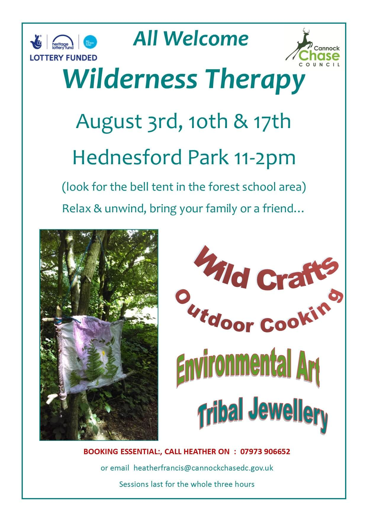 wilderness therapy poster - The Friends of Hednesford Park